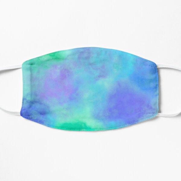 Tie Dye verde neón y azul Mascarilla plana