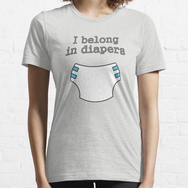 Pertenezco en pañales Camiseta esencial