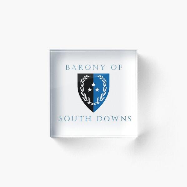 Barony of South Downs Acrylic Block