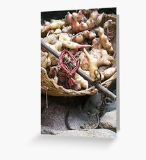 weigh the ginger Greeting Card