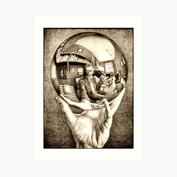 Escher's selfie Art Print