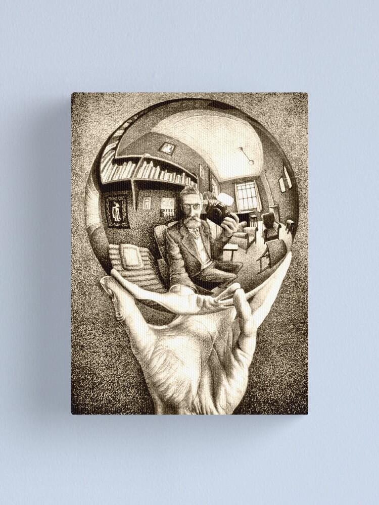 Alternate view of Escher's selfie Canvas Print