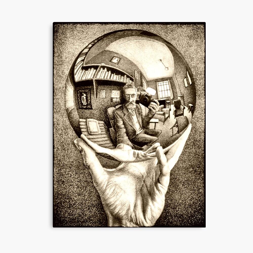 Escher's selfie Canvas Print