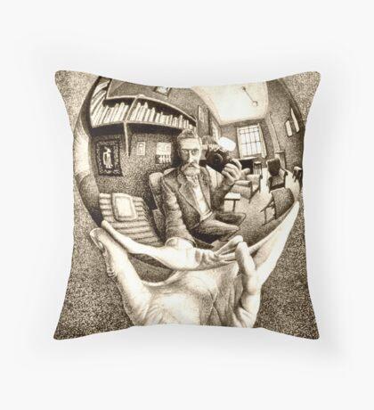 Escher's selfie Throw Pillow
