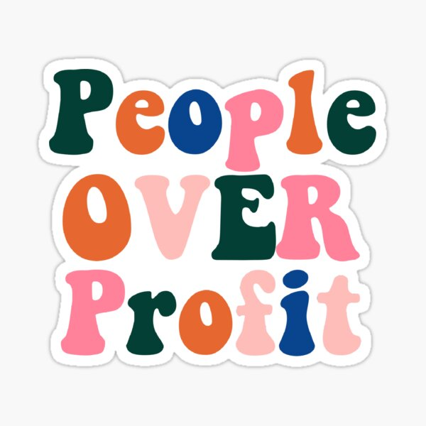 People Over Profit Sticker Sticker