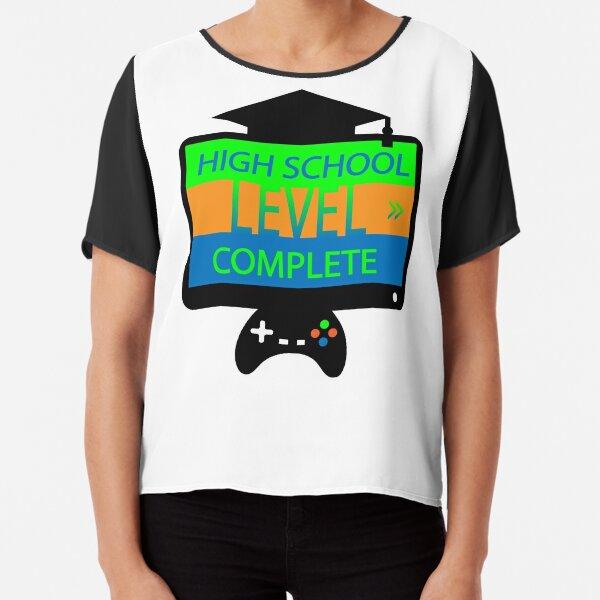 High school level complete t-shirt  Chiffon Top