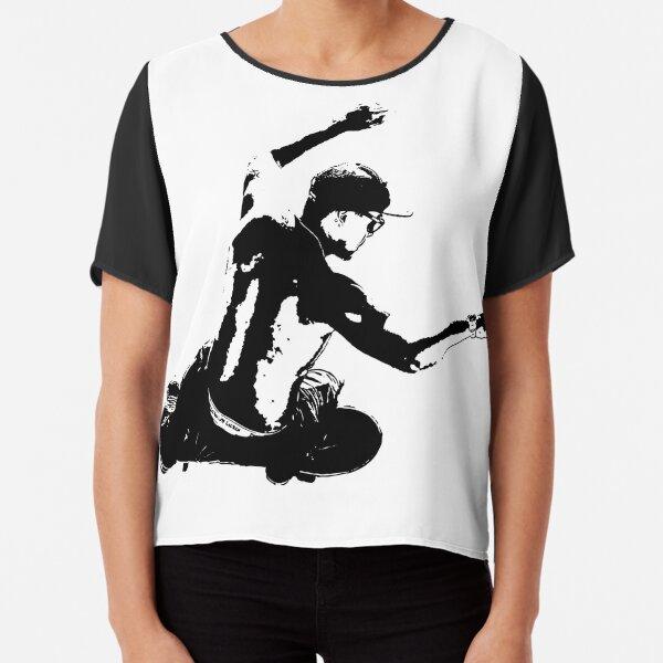 Skateboarding_Stencil_009 Chiffon Top