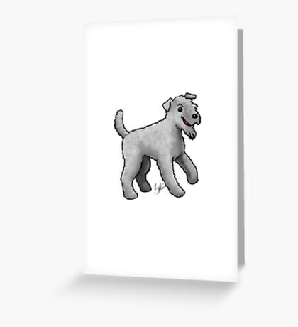 Carrie Blue Terrier Greeting Card
