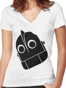 Iron Giant Vector Women's Fitted V-Neck T-Shirt