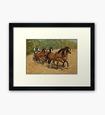 Team Work Four-in-Hand Carriage Driving Framed Print
