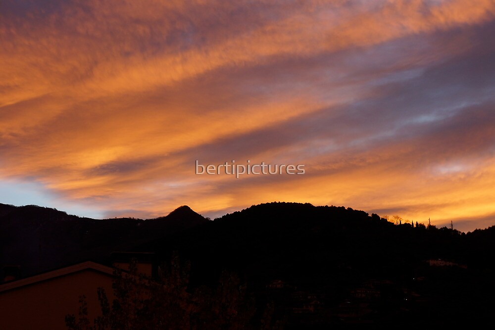 sunrising in Tuscany by bertipictures