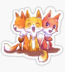 Birthday foxes Sticker