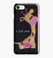 Felted Giraffe with Purple Spots  iPhone Case/Skin