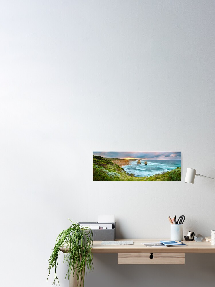 Alternate view of Gibsons Beach, Twelve Apostles, Great Ocean Road, Victoria, Australia Poster