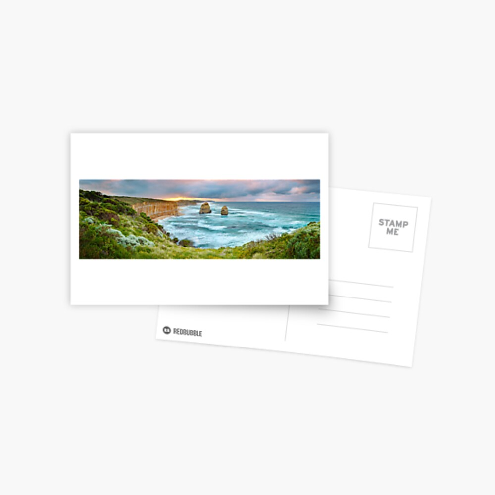 Gibsons Beach, Twelve Apostles, Great Ocean Road, Victoria, Australia Postcard