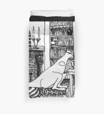 Kangaroo in the Library Duvet Cover