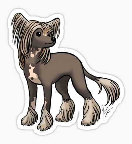 Chinese Crested Glossy Sticker