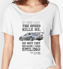 Paul Walker Tribute GTR - Halftone Women's Relaxed Fit T-Shirt