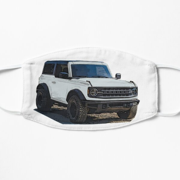 2021 Oxford White Ford Bronco 2 Door Flat Mask