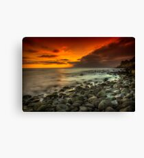 Steephill Cove Sunset Canvas Print