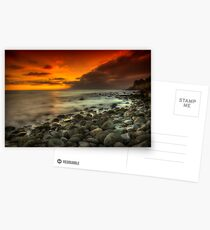 Steephill Cove Sunset Postcards
