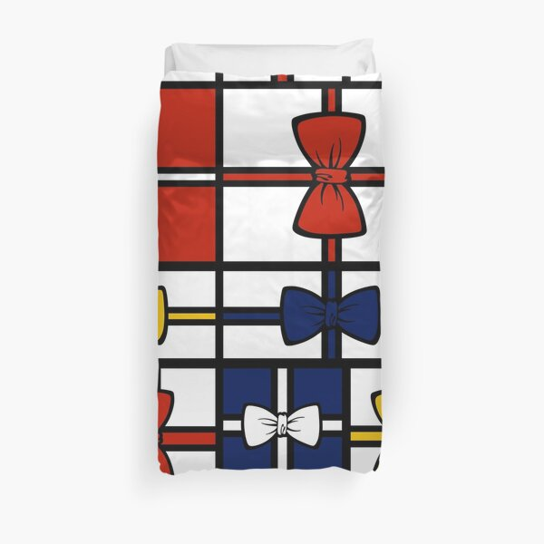 Mondrian's Gift Wrapping with Red, Yellow and Blue Duvet Cover