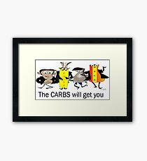 Carbs Framed Print