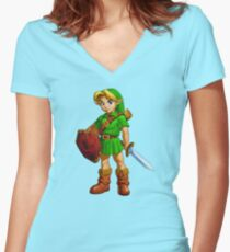 Cute Link Women's Fitted V-Neck T-Shirt