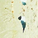 Gulls on the Beach Abstract Impressionism by pjwuebker