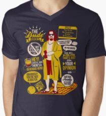 The Dude Quotes Men's V-Neck T-Shirt