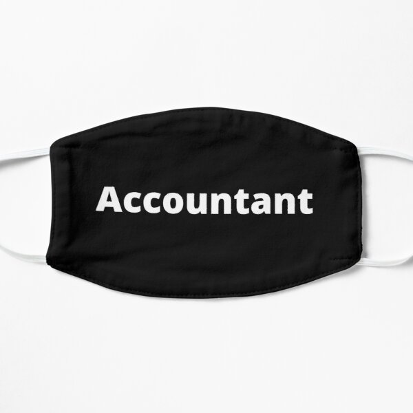 Accountant Plain Solid Black With With Font Flat Mask