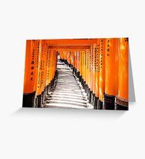 Fushimi Inari Shrine (Fushimi Inari Taisha), Kyoto, Japan Greeting Card