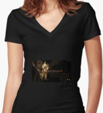 Metal Gear Solid 5 Women's Fitted V-Neck T-Shirt