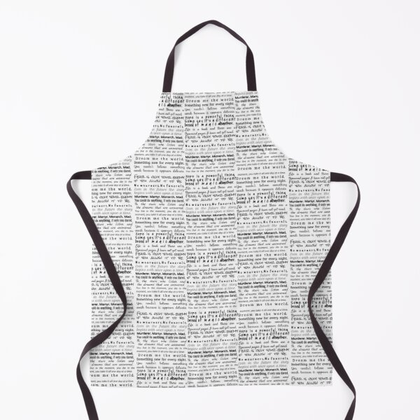 YA Book Quotes Apron