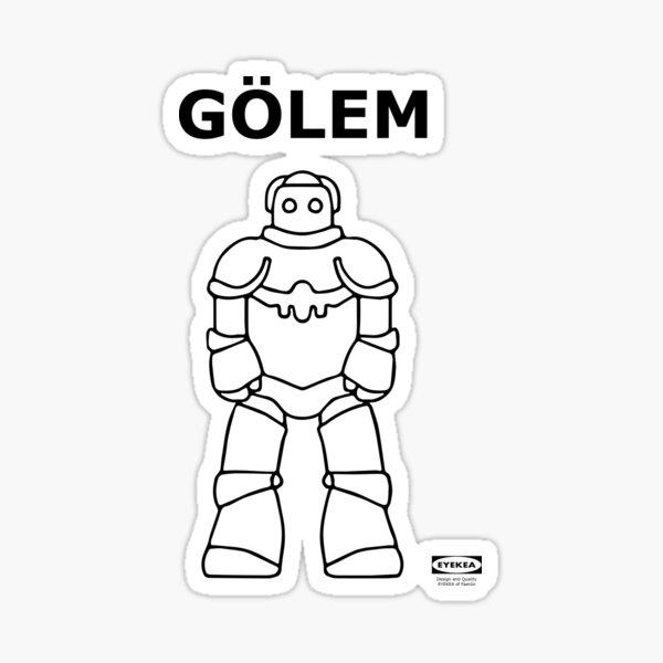 Flat Packed Golem Sticker