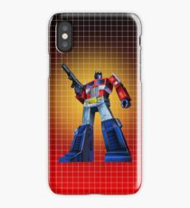 Optimus Prime - G1 Style Backdrop iPhone Case/Skin