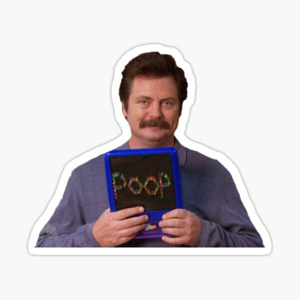 Ron Swanson - Poop Sticker