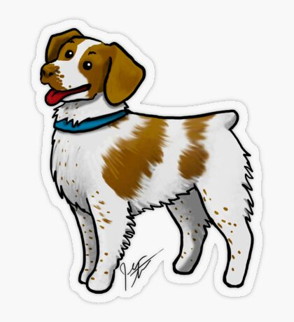 Brittany Spaniel Transparent Sticker