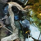 Driftwood on River Rocks Abstract Impressionism by pjwuebker