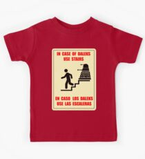 In Case of Daleks Use Stairs Kids Tee
