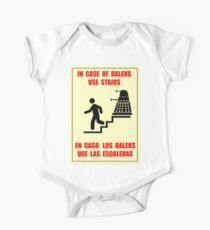 In Case of Daleks Use Stairs One Piece - Short Sleeve