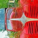 Vintage Red Dodge Truck Abstract Impressionism by pjwuebker