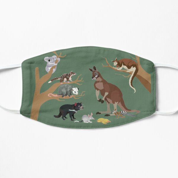 I Am Thankful For Marsupials Flat Mask