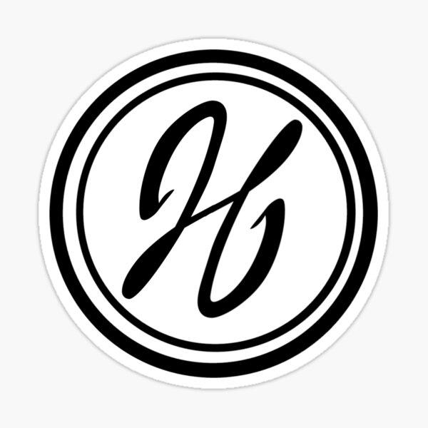 J. J. Hanna Logo in Contrast Sticker