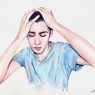 Conscience (self-portrait) by André Luiz Barbosa