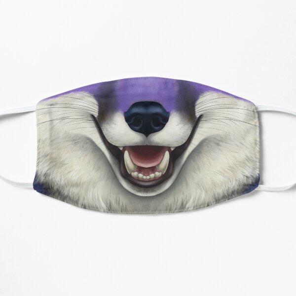 Visage de renard violet Masque sans plis