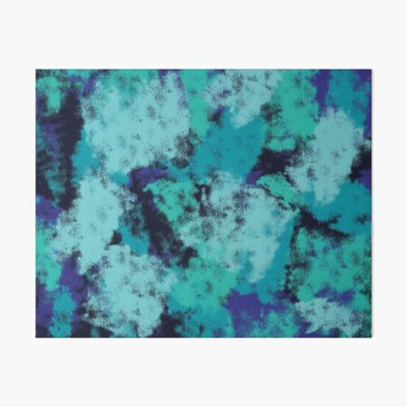 Retro Abstract Blue Fun  Art Board Print
