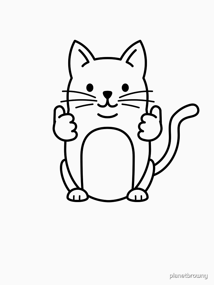 Thumbs Up Cat von planetbrowny