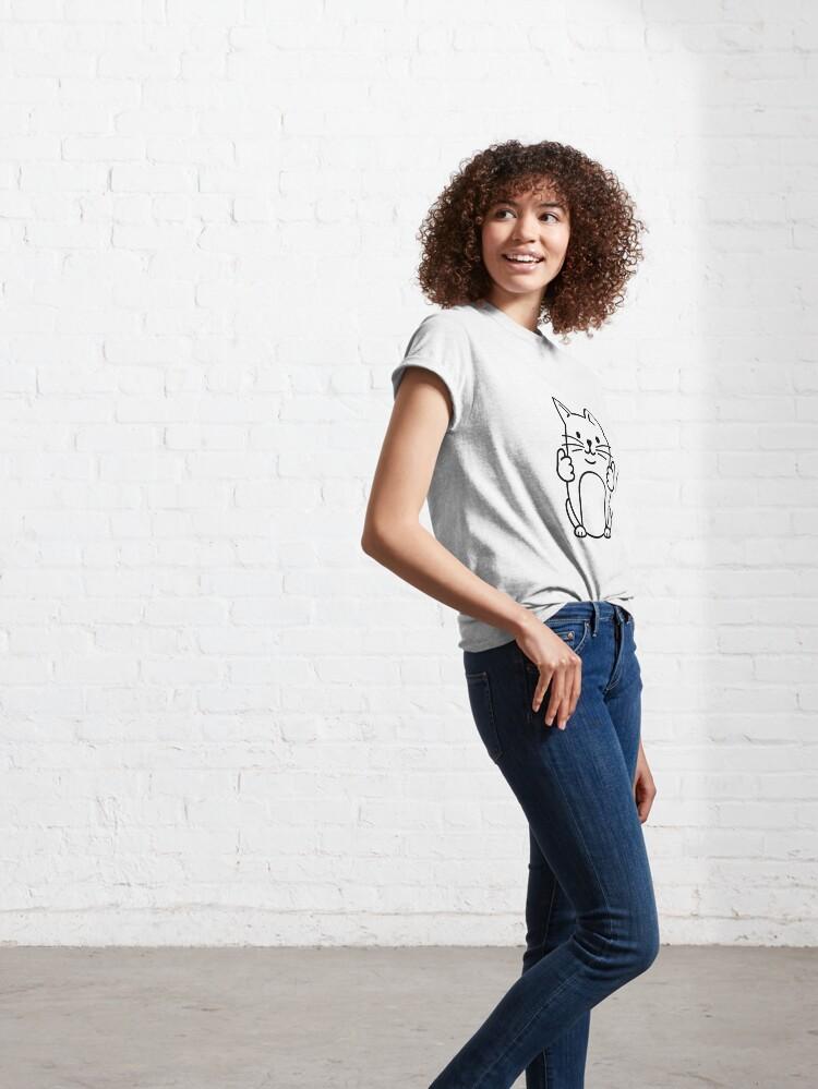 Alternative Ansicht von Thumbs Up Cat Classic T-Shirt