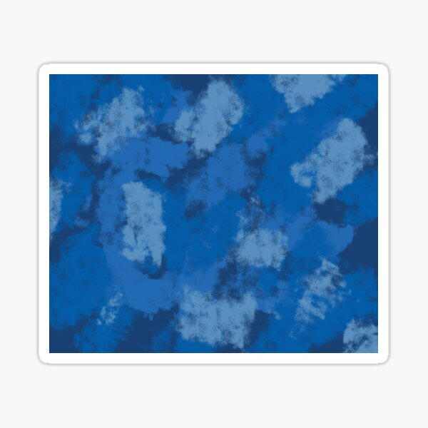 Navy Blue Abstract Pattern Sticker